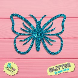 Glitter bow picture butterfly small