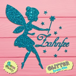 Tooth fairy glitter iron-on...