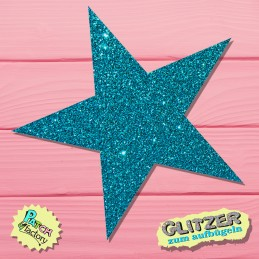 Glitter iron-on picture star large