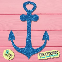 Glitter iron-on picture anchor
