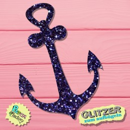 Glitter iron-on picture anchor small