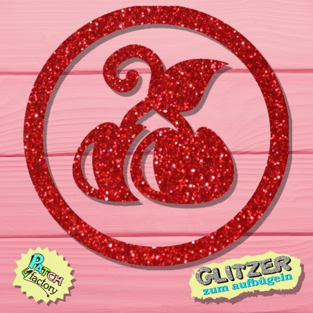 Glitter iron-on picture cherries small