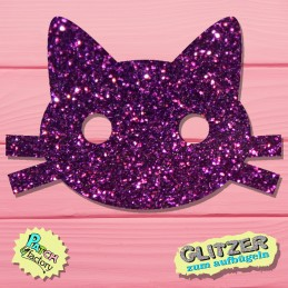 Glitter iron-on picture cats small