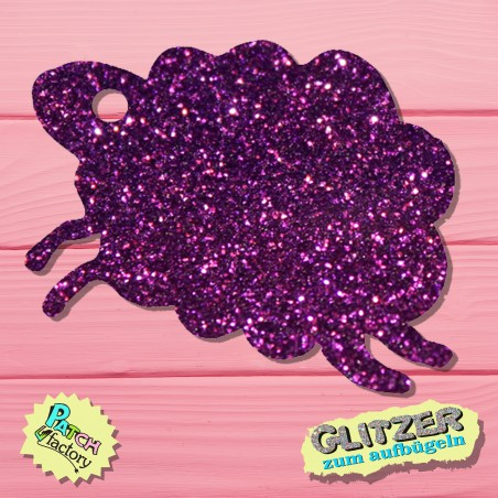 Glitter iron-on picture sheep small