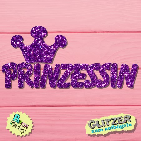 Glitter iron-on picture princess with crown