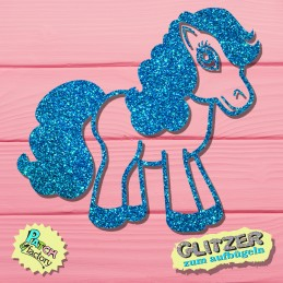 Glitter iron-on patch horse...