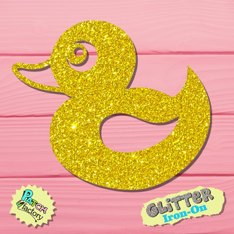 Glitter iron-on duck