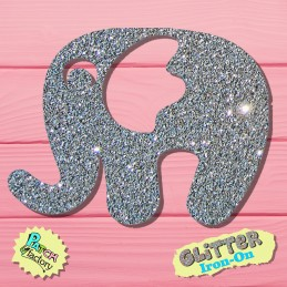 Glitter bow elephant small