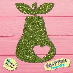 Glitter bow picture pear with heart