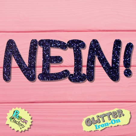 Glitter iron-on lettering No