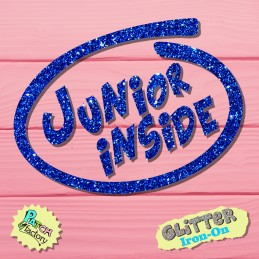 Glitter iron-on picture Junior Inside