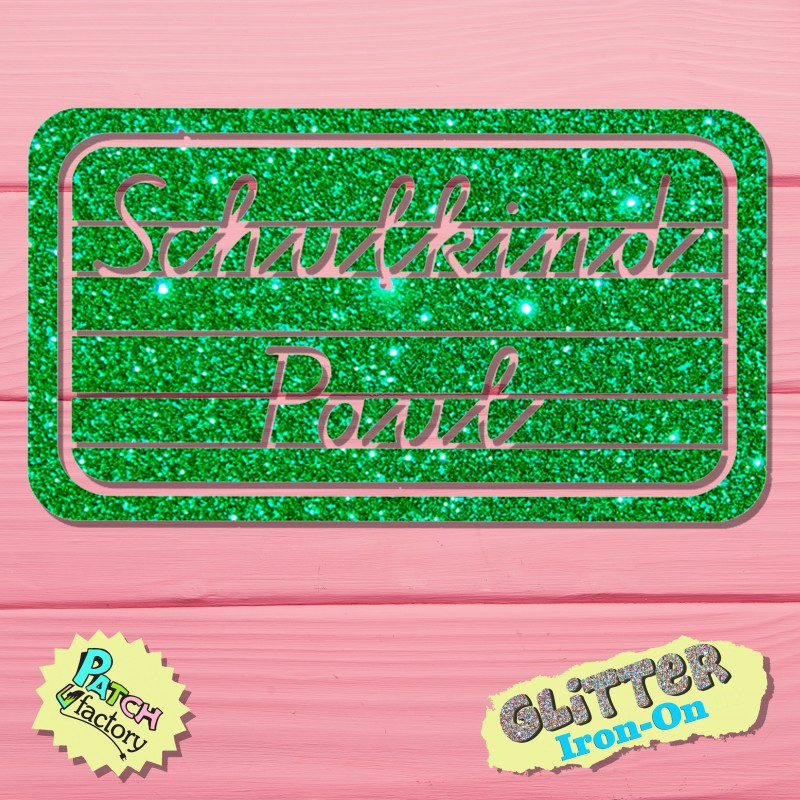 Glitter Bow Picture Schoolchild Board with Name