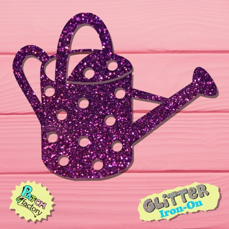 Glitter bow picture watering can