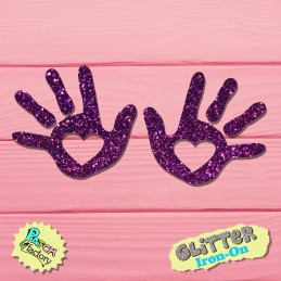 Glitter Bow Picture Baby Hands