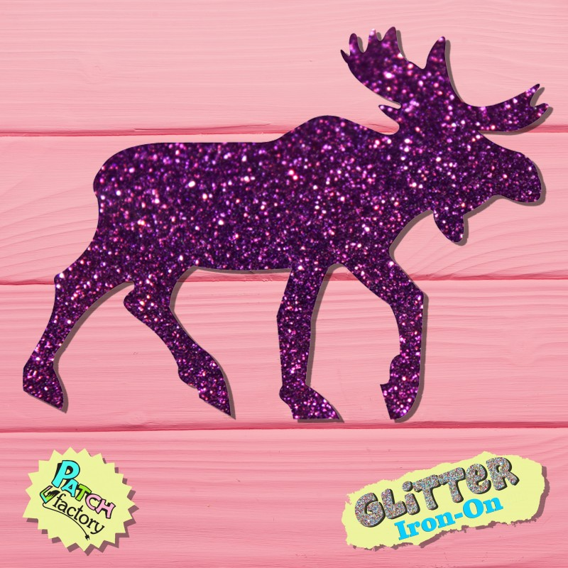 Glitter Bow Picture Elk with Geweih