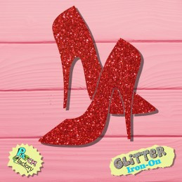 Glitter Bow Shoes High Heels