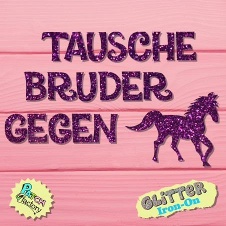 Glitter Bow Thaw Thaw Brother against Horse