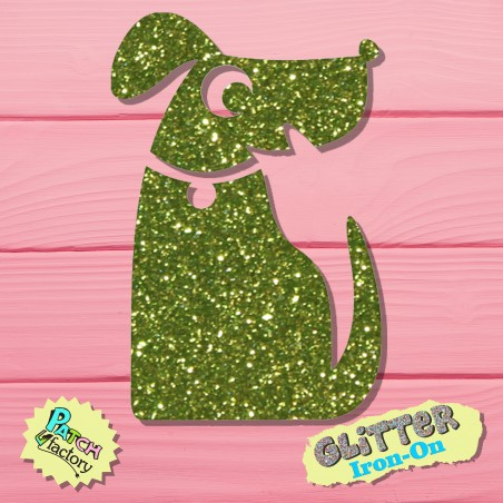 Glitter Bow Picture Dog