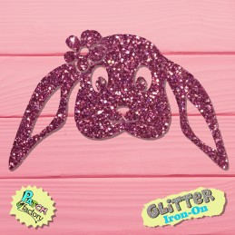 Glitter iron-on picture...