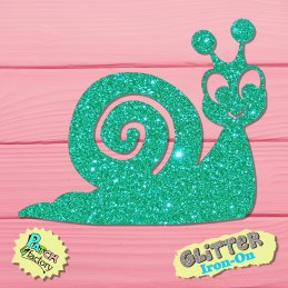 Glitter bow picture snail