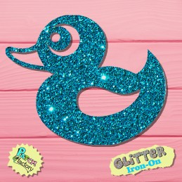 Glitter bow picture Ente small