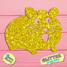 Glitter bow picture Hamster