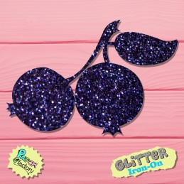 Glitter bow picture blueberry