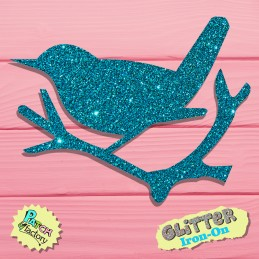 Bow picture Glitter bird on Ast