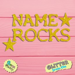 Glitter bow image individual name Rocks