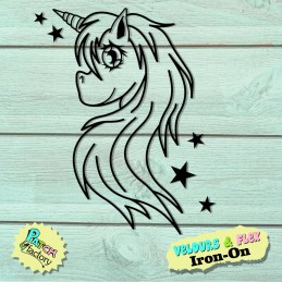 Iron-on patch unicorn with...