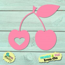 Iron-on patches of cherries