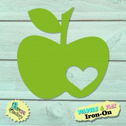 Apple image with heart