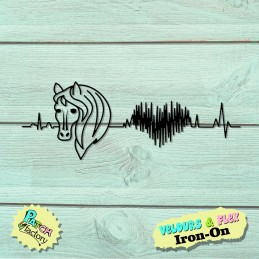 Iron-on patches of horse love