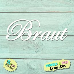 Iron-on patch lettering bride