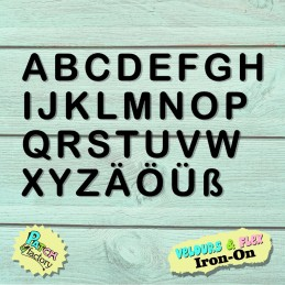 Iron-on patch letters set...