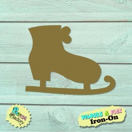 Iron-on patch ice skate