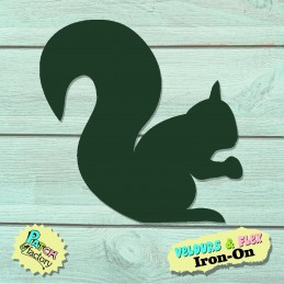 Iron-on patch squirrel
