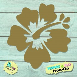 Iron-on patch hibiscus flower