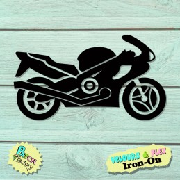 Iron-on picture motorcycle