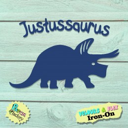 Iron-on patch dinosaur with...