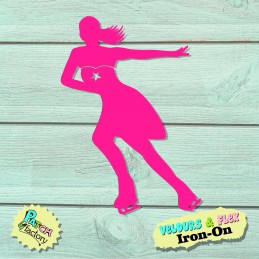 Iron-on figure skater in...