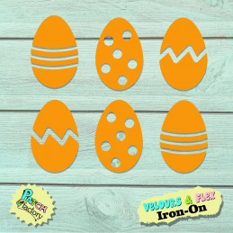 Iron-on patch Easter eggs...