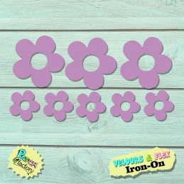 Ironing board flowers in set 8 pieces