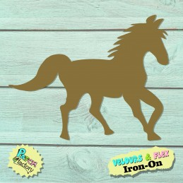 Iron-on picture horse