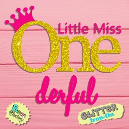 Glitter bow picture Little Miss Onederfull
