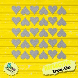 Ironing heart reflective 30 pieces