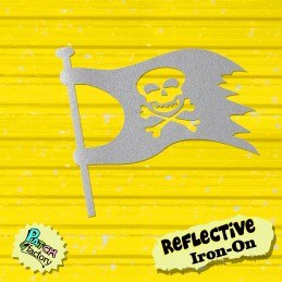 Ironing board pirate flag with skull