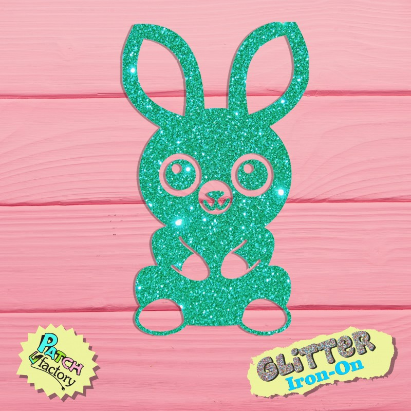 Glitter iron-on picture bunny