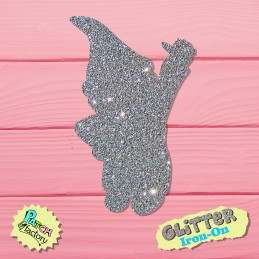 Glitter iron-on picture dwarf