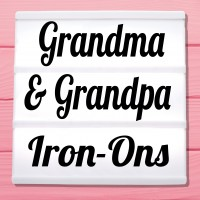 Glitter Iron-On Pictures Category Grandma And Grandpa